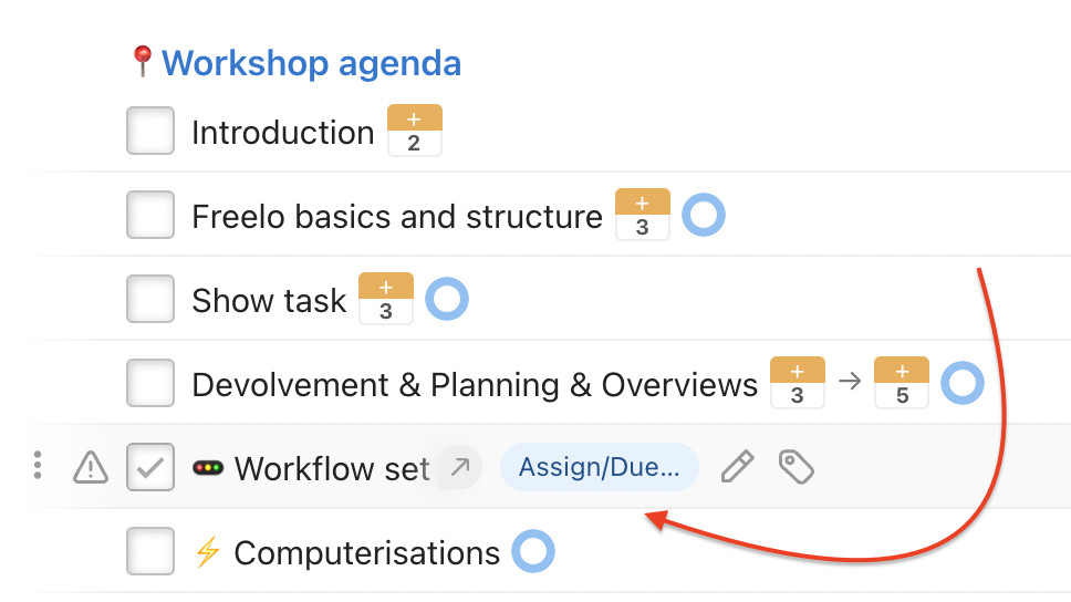 How to add task due date in template.