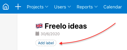 How to add new project label.