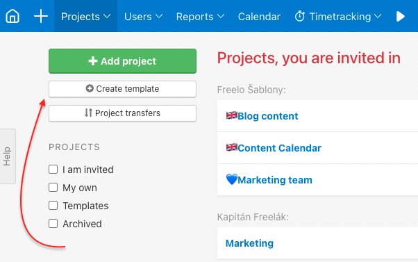 How to create a new project template.