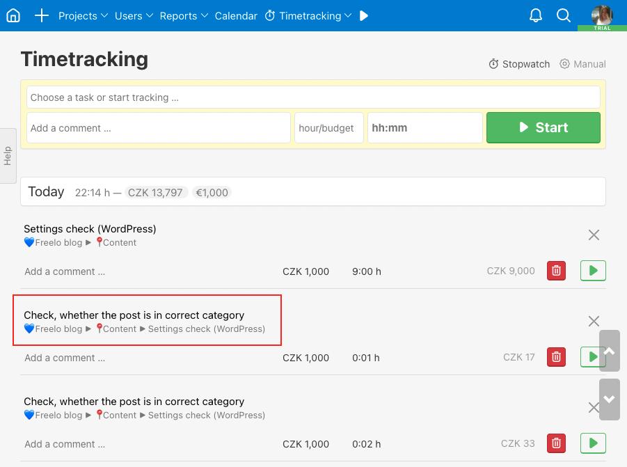 Task Settings check (WordPress) is superior task.