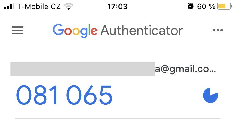 Ukázka, jak použít Google Authenticator.