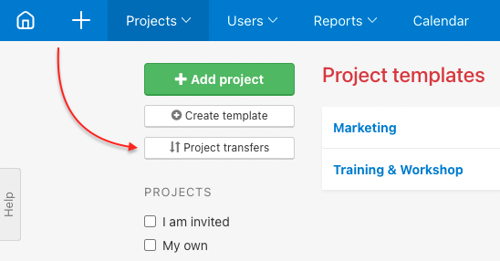How to change project owner.