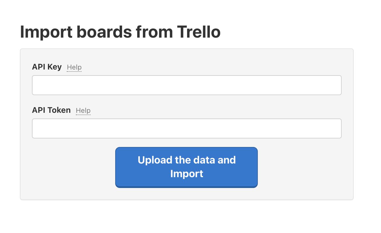 Enter the Trello API Key and API Token to Freelo.