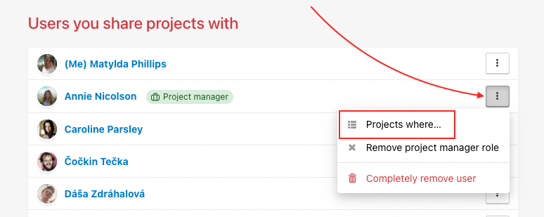How to appoint the user as Admin of the project.