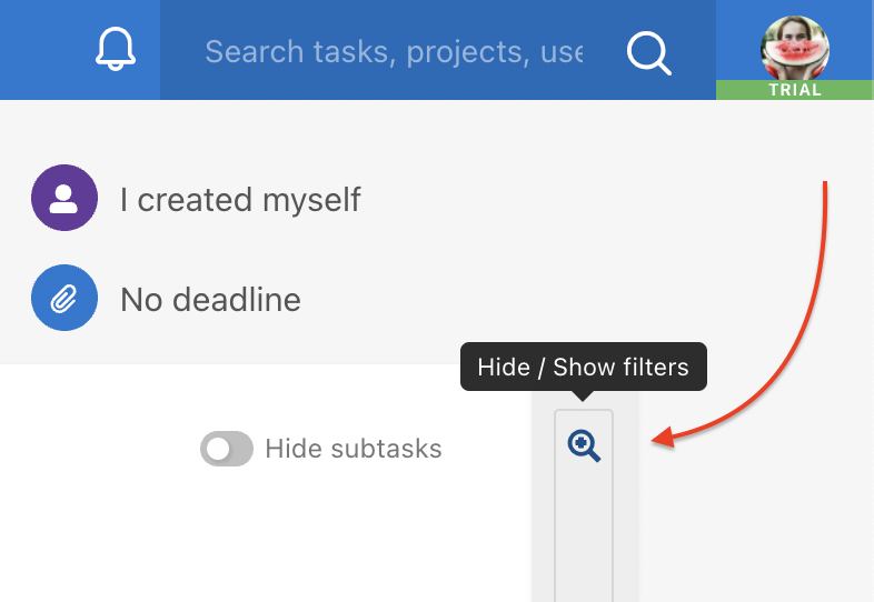 How to show filters on Dashboard.