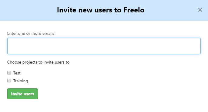 Example of how to invite new users.