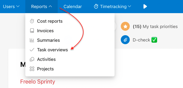 Find report of Last deleted items in Task overviews.
