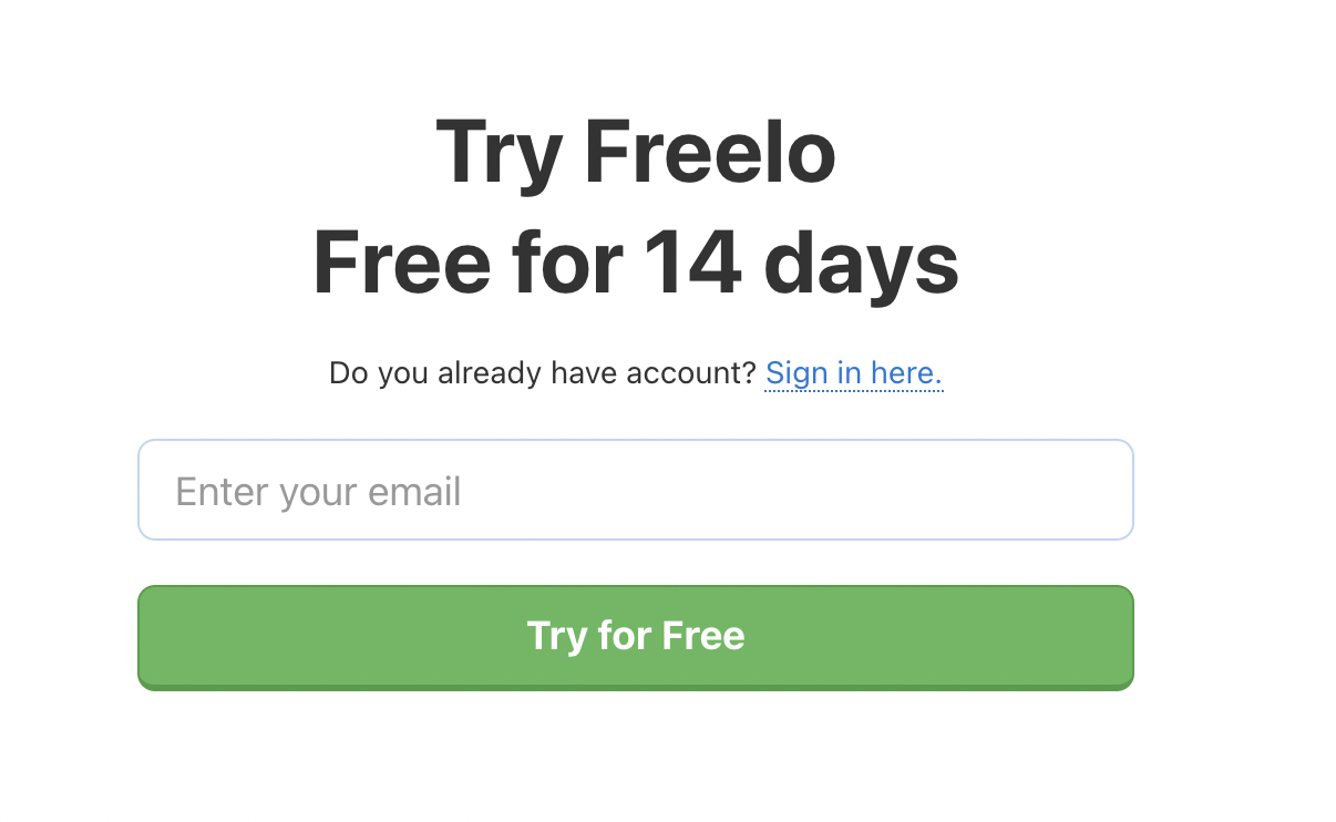 Try Freelo for Free.