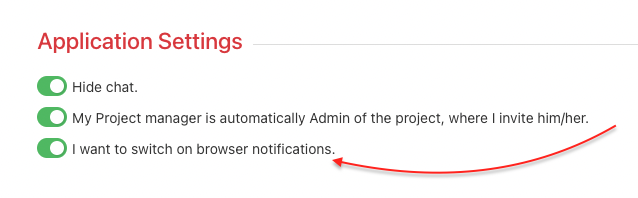 Turn on browser notifications in Settings.